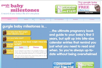 Gurgle Baby Milestones – Software License Giveaway – Closes 23rd December 2011