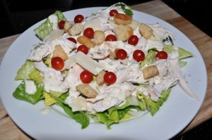 Chicken Caesar Salad Recipe, with Tomberries